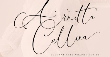 Arnitta Callina [1 Font] | The Fonts Master