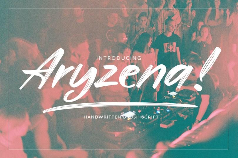 Aryzena [1 Font] | The Fonts Master