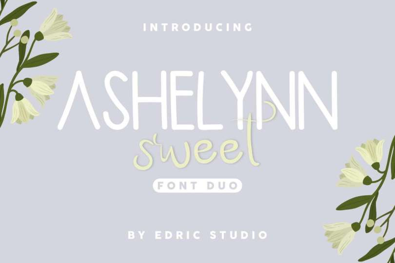 Ashelynn Duo [2 Fonts] | The Fonts Master