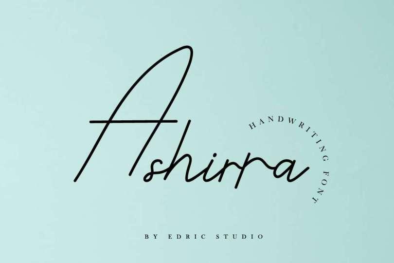 Ashirra [1 Font] | The Fonts Master