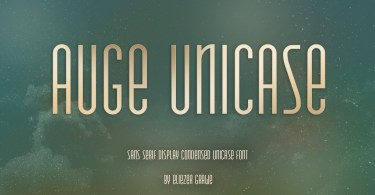 Auge Unicase [1 Font] | The Fonts Master