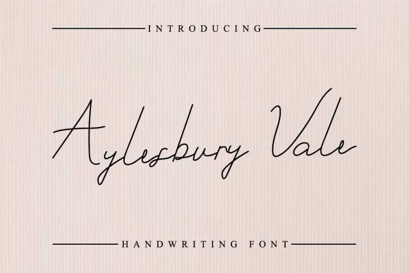 Aylesbury Vale [1 Font] | The Fonts Master