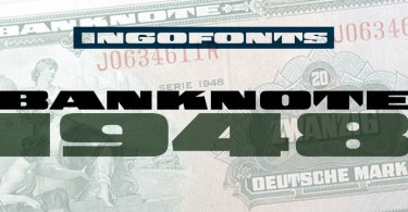 Banknote 1948 [1 Font] | The Fonts Master