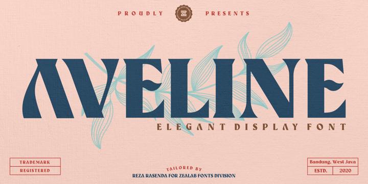 Aveline [1 Font] | The Fonts Master