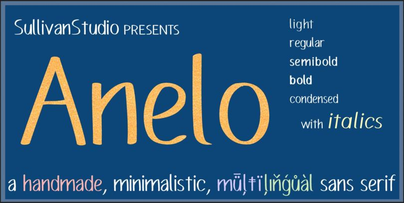 Anelo Super Family [16 Fonts] | The Fonts Master