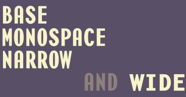 Base Monospace Super Family [12 Fonts] | The Fonts Master