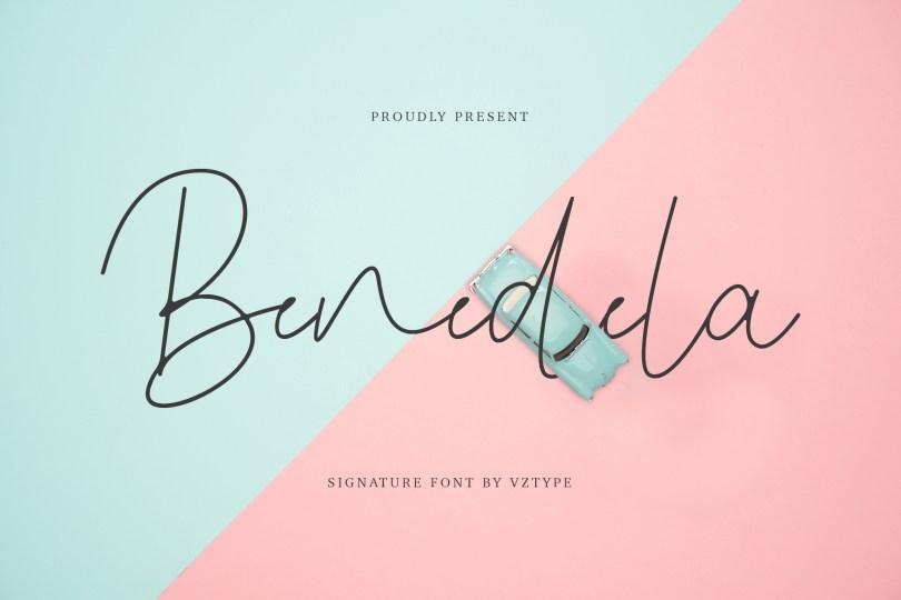 Benedela [1 Font] | The Fonts Master