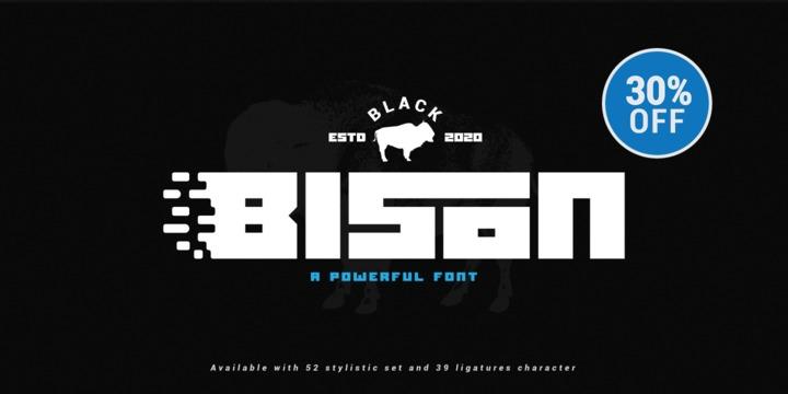 Black Bison [1 Font]   The Fonts Master