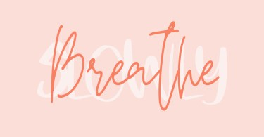 Breathe Slowly [2 Fonts] | The Fonts Master