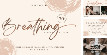 Breathing [2 Fonts] | The Fonts Master