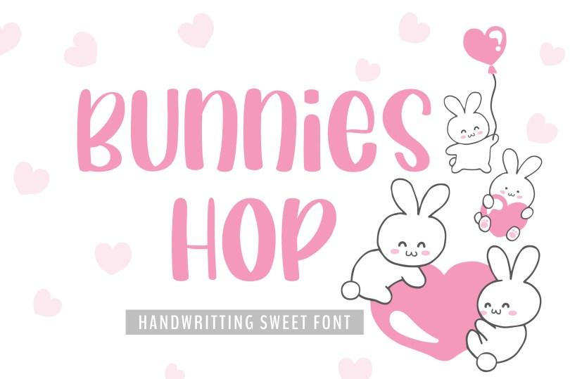Bunnies Hop [1 Font] | The Fonts Master