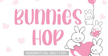 Bunnies Hop [1 Font] | The Fonts Master