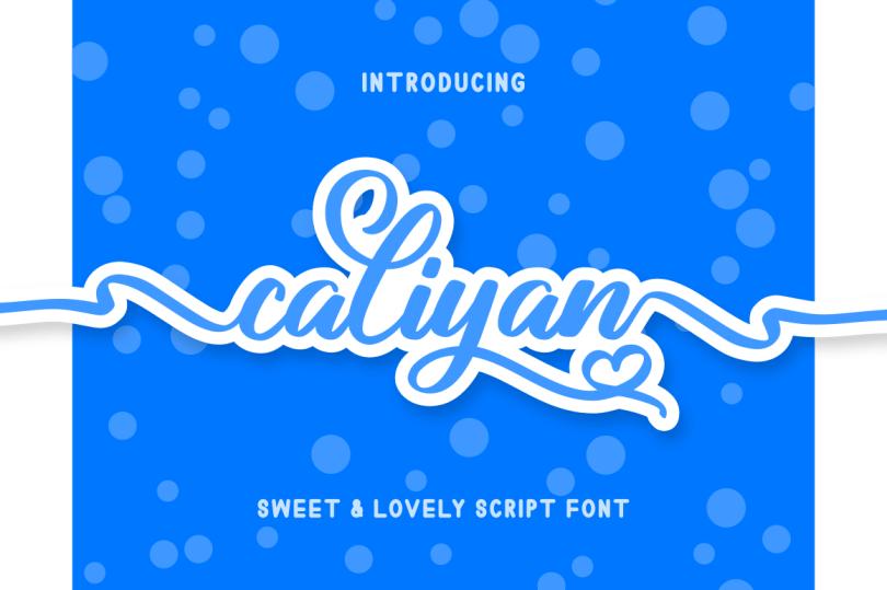Caliyan [1 Font] | The Fonts Master