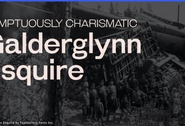 Galderglynn Esquire [14 Fonts]   The Fonts Master
