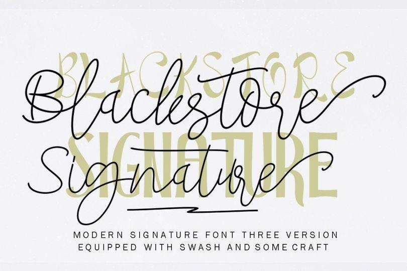 Blackstore Signature [4 Fonts] | The Fonts Master