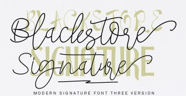 Blackstore Signature [4 Fonts] | The Fonts Master
