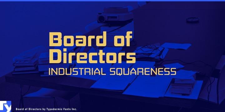 Board Of Directors [16 Fonts] | The Fonts Master