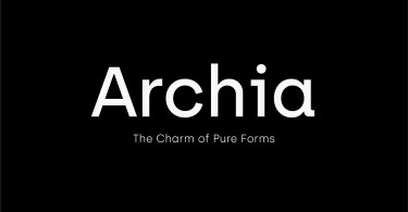 Archia [6 Fonts] | The Fonts Master