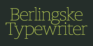 Berlingske Typewriter