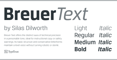 Breuer Text Super Family [8 Fonts] | The Fonts Master