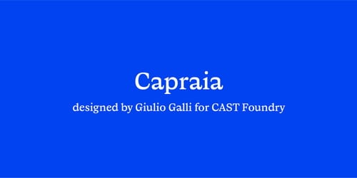 Capraia Super Family [14 Fonts] | The Fonts Master