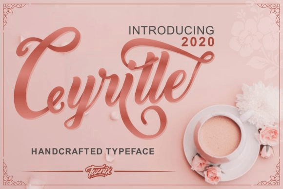 Cyrille [1 Font] | The Fonts Master