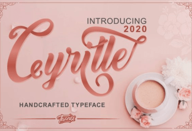 Cyrille [1 Font]   The Fonts Master