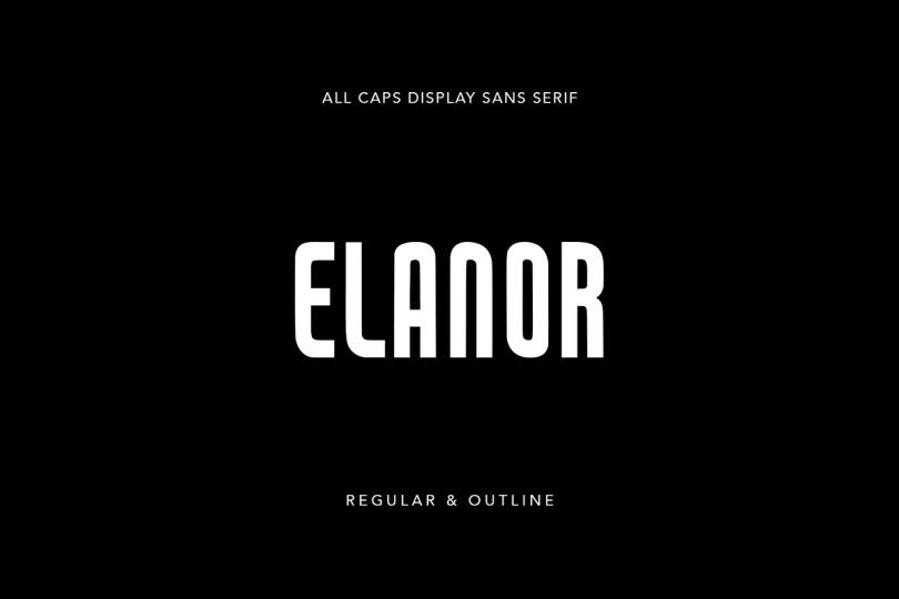Elanor [2 Fonts] | The Fonts Master