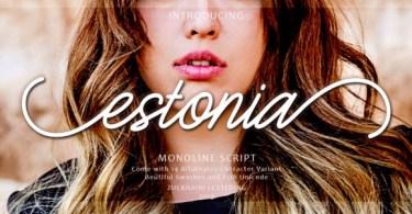 Estonia [1 Font] | The Fonts Master