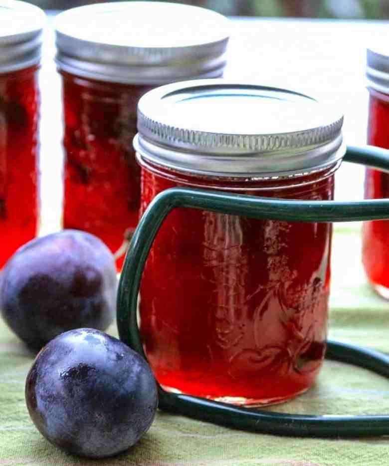 Jars of Plum Jam