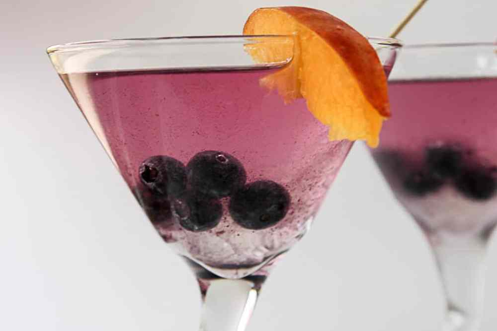 Ginger Blueberry Martini