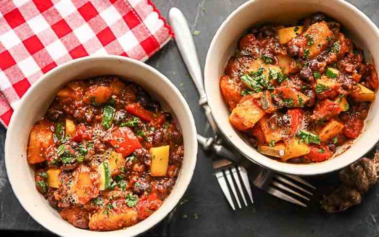 Vegetarian Chili with Butternut Squash and Black Beans