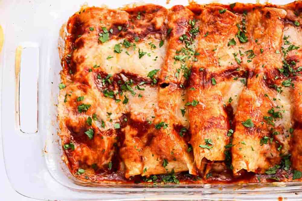 Chipotle Chicken Enchiladas