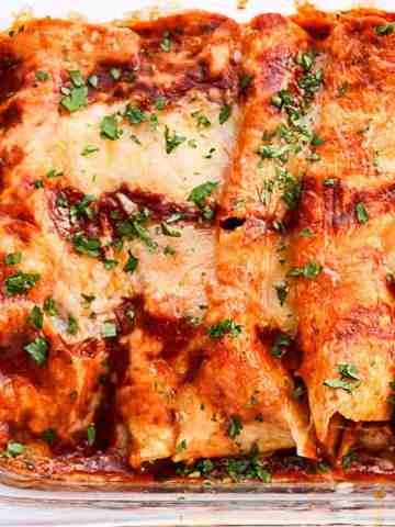 Chipotle Chicken Enchiladas