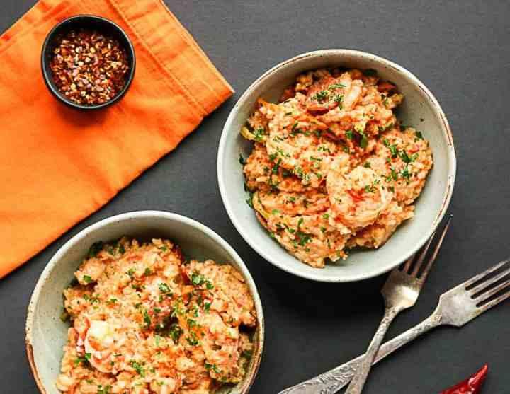 Two bowls of jambalaya