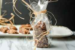 Fudge wrapped in cellophane and tied with string