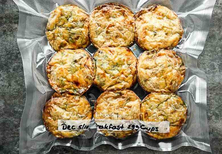 Baked Breakfast Spinach, Cheese, Bacon Egg Cups