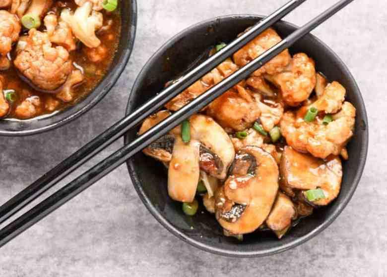 General Tso Cauliflower & Mushrooms