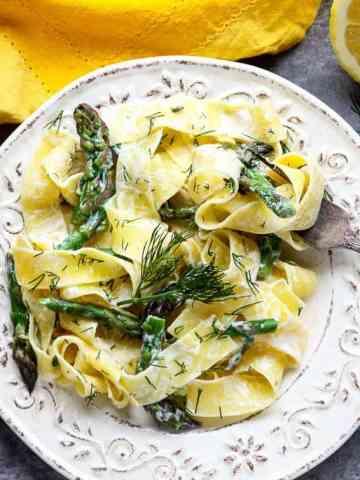 Lemon & Asparagus Pappardelle Pasta