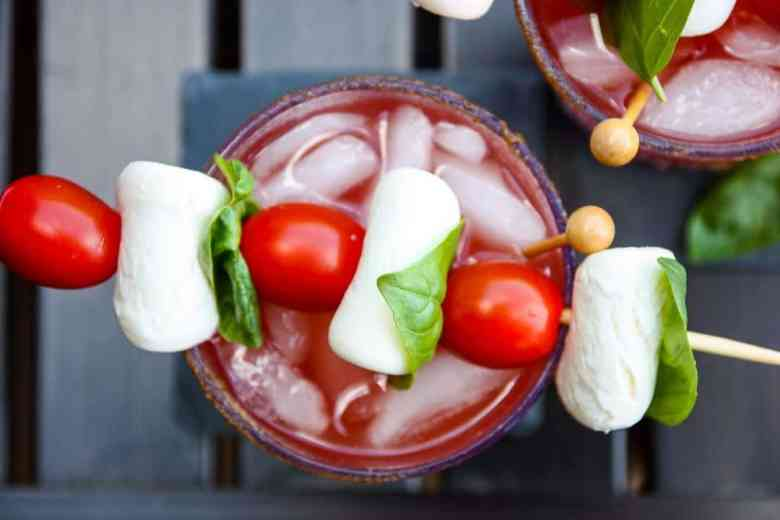 Caprese Caesar Cocktail