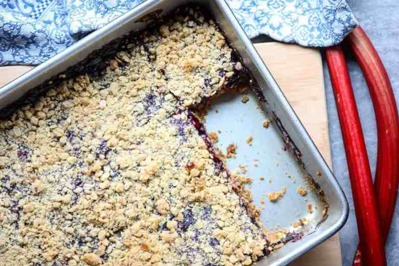 Blueberry Rhubarb Bars