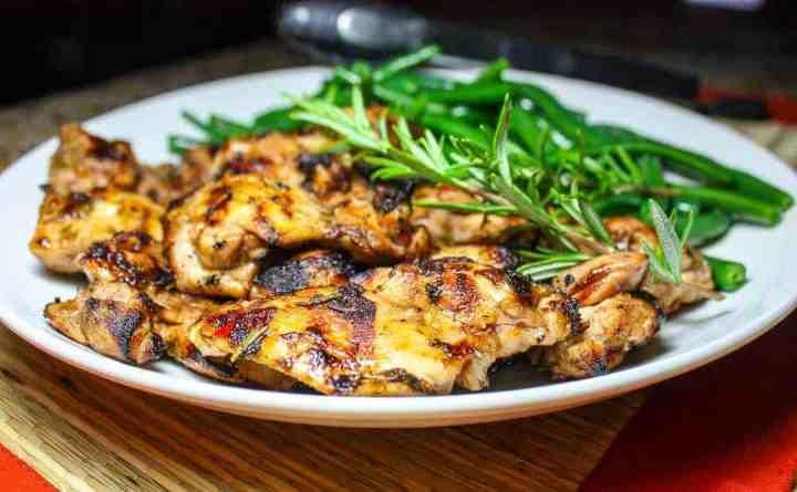 Lemon Herb Grilled Chicken Thighs