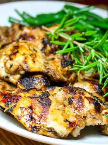 A plate of grilled chicken