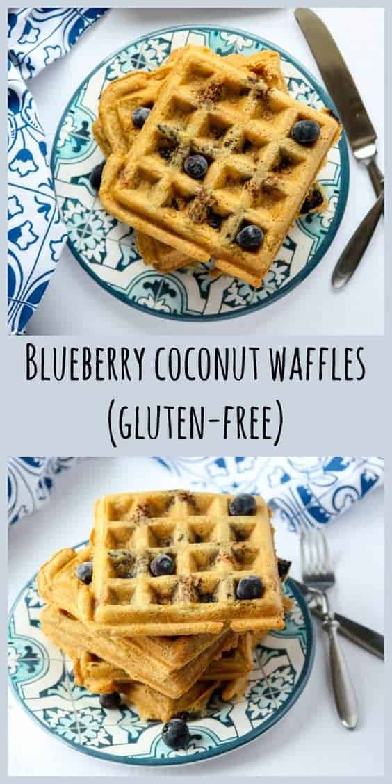 Blueberry Coconut Waffles