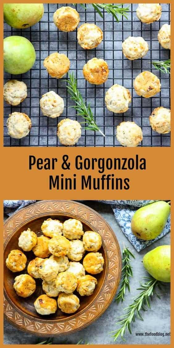 Pear Gorgonzola Appetizer Bites