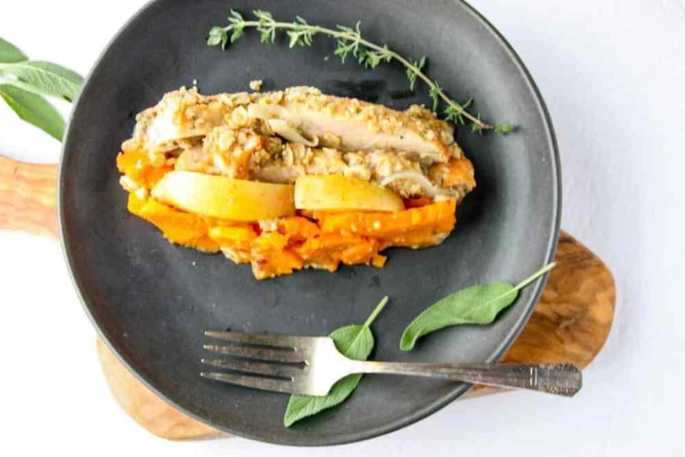 Sweet Potato Apple Turkey Bake