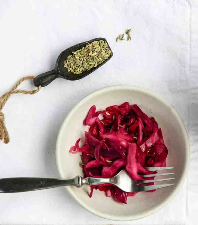 Quick Pickled Red Cabbage