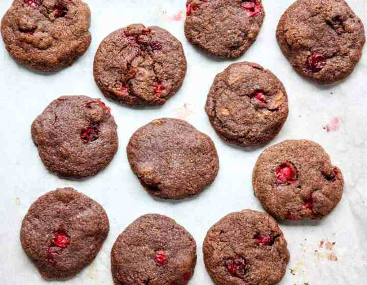 A close up chocolate cookies