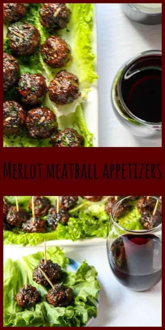 Pin Merlot Meatball Appetizers!