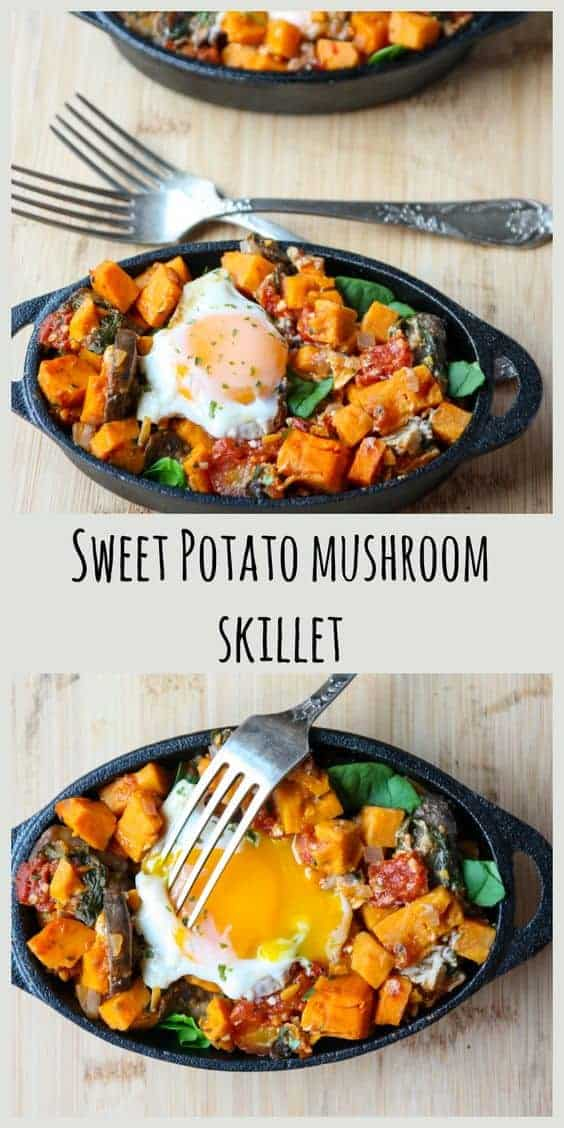 Sweet Potato Mushroom Skillet